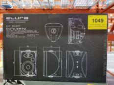 ELURA, OUT6.5W70 OUTDOOR SPEAKERS, PAIR - (BNIB) MSRP $479 USD