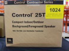 JBL, CONTROL 25T BACKGROUND/FOREGROUND SPEAKER, PAIR - (BNIB) MSRP $290 USD