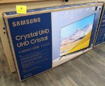 SAMSUNG CRYSTAL UHD, 65 IN. SMART TV, MOD. UN65TV8000F, (BNIB) MSRP $1400