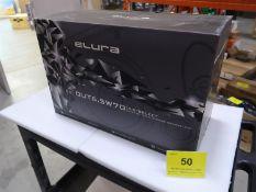 ELURA OUT 6.5B70, 6.5 IN. SELECT, BLACK 6/70 VOLT OUTDOOR SPEAKERS PAIR, (BNIB)