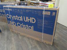 SAMSUNG CRYSTAL UHD, 75 IN. SMART TV, MOD. UN75TU8000F, (BNIB) MSRP $1800