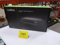 LUXUL 12 PORT/8 POE AND GIGABIT MANAGED SWITCH AMS-1208P, (BNIB) MSRP $600