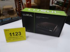 LUXUL 4 PORT POE AND COMPACT SWITCH SW-100-04P, (BNIB) MSRP $150