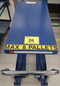 2012 VESTIL MFG. SCSC-500-2040 LIFT TABLE, 500LB CAP.