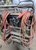 LINCOLN ELECTRIC IDEALARC 250 AC/DC ARC WELDER, S/N C1950300331 W/ WELDING MASK