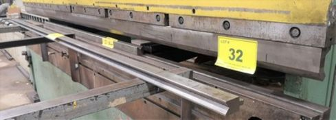 LOT OF (3) PRESS BRAKE DIES (10', 6' AND (1) TOP 11-1/2') (MOUNTED ON MACHINE)