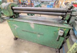 """BROWN BOGGS NO. 3048 PLATE ROLLS, 2HP, 48"""", 575V"""