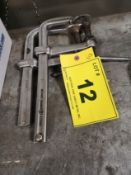"""LOT (2) 15"""" C-CLAMPS (GRAY L408 AND CHOMA S25C12)"""