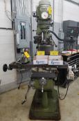 FIRST LC-1/2VS, 2 HP, 3 PHASE VERTICAL MILLING MACHINE W/ DRO. S/N:10116757