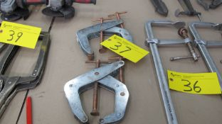 LOT OF (2) COPPER/STEEL CORNER CLAMPS (MACHINE SHOP)