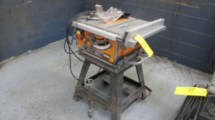 """RIDGID R4516 10"""" PORTABLE TABLE SAW, 5,000 RPM, 120V, S/N X170502672 (MACHINE SHOP)"""