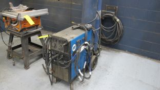MILLER MILLERMATIC 250 CV-DC WELDING POWER SOURCE W/ MILLER SPOOLMATIC 15A WIRE FEEDER, CABLES AND