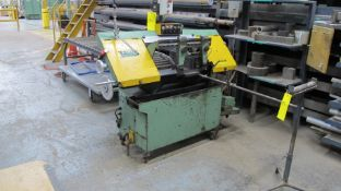 STOCK MACHINE TOOLS MF1007 HORIZONTAL METAL CUTTING BANDSAW, CLAMPING, CONTROLS, INFEED ROLLEY