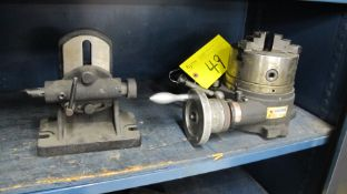 "VERTEX MACHINERY WORKS PRECISION MACHINE TOOL W/ 6-1/2""DIA/ 3-JAW CHUCK AND TAILSTOCK (MACHINE"