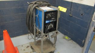 MILLER THUNDERBOLT XL 225/150AMP CC-AC/DC WELDING POWER SOURCE W/ CABLES, CART AND MANUAL (MACHINE
