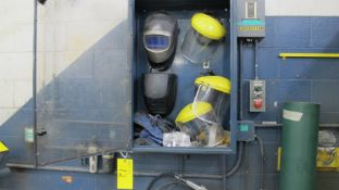 LOT OF WELDING MASKS AND SHIELDS (NO CABINET) (MACHINE SHOP)