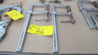 """LOT OF (2) GREY TOOLS NO. L416C BAR CLAMPS, 21"""" X 8"""" (MACHINE SHOP)"""