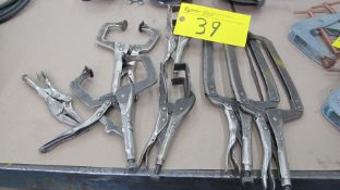 LOT OF VISE GRIP CLAMPS, ASST. SIZES AND STYLES (MACHINE SHOP)