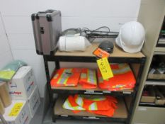 3-LEVEL SHELVING UNIT W/ SAFETY SUPPLIES AND MAGNIFICATION LAMP (SOUTH CENTRAL PLANT SUPERVISOR'S