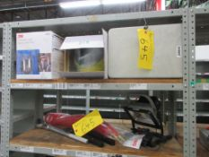 MAGNETIC PORTABLE LAMP, RATCHETS, TOPPING AIR HOSE, 3M 6900 FULL FACEPIECE LARGE, SHIELD MASK, DOREX