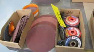 LOT OF SANDING/POLLISHING/WIRE DISCS IN BOXES (MACHINE SHOP)