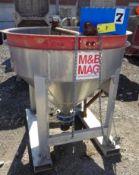 "M & B MAG MODEL BB-74VFL CONCRETE BUCKET, 3/4 YARD, 245 LBS CAPACITY, 48"" OPENING, S/N 120521"