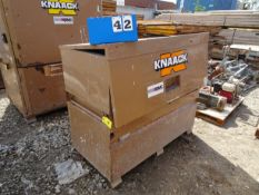 KNAACK MODEL 89 STORAGEMASTER CHEST SKID MOUNTED