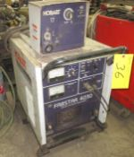 HOBART FABSTAR 4030 WELDER W/ HOBART 17 WIRE FEEDER, CART AND CABLES