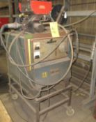 MILLER CP-250TS WELDER W/ CANOX C354E WIRE FEEDER, CART AND CABLES
