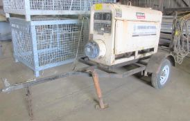 LINCOLN ELECTRIC CLASSIC III D SA300-TMD27 GAS POWERED WELDER ON TRAILER W/ CABLES