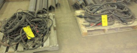LOT OF (2) PALLET OF WELDING CABLES AND GUNS