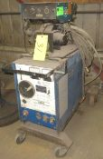 MILLER 200A CV/DC WELDER W/ MILLER S-52E WIRE FEEDER, CABLES AND CART