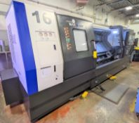 "2014 HYUNDAI WIA L400LMC BIG BORE MULTI-AXIS CNC TURNING CENTER WITH FANUC 32I-A CNC CONTROL, 18"""