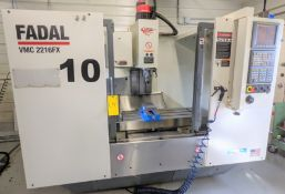 "2006 FADAL VMC2216FX CNC VERTICAL MACHINING CENTER WITH FADAL GE FANUC OI-MC CNC CONTROL, 16"" X"
