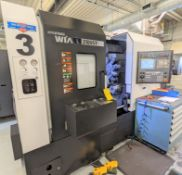 "2013 HYUNDAI WIA LS2100SY CNC TURNING CENTER WITH SUB SPINDLE, FANUC 31I-A CNC CONTROL, 24.8"""