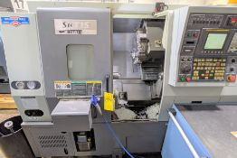 "2006 HYUNDAI KIA SKT-15 CNC TURNING CENTER WITH FANUC OI-TC CNC CONTROL, 21.6"" SWING OVER BED, 5,000"
