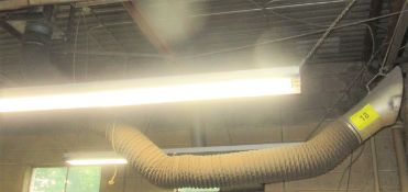 FUME EXTRACTOR W/ CEILING MOUNTED MOTOR / BLOWER