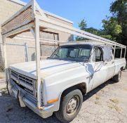 1986 CHEVROLET CUSTOM DELUXE 30 PICKUP TRUCK, BONUS CAB, APPROX. 995,000 MILES