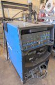 MILLER SYNCROWAVE 250 DX TIG WELDER W/ CABLES, CART, REGULATOR