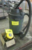 LOT OF 2-TON CHAIN HOIST AND 3.0HP SHOP VAC