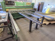 """HACO HSC 306R SHEAR, 10' X ¼"""" CAP., SQUARING ARM, SUPPORT ARMS, FRONT OPERATED POWER BACK GAUGE, S/N"""