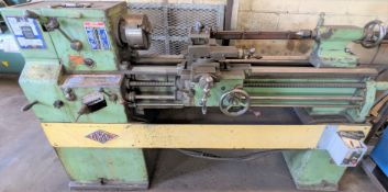 """ZUBAL LATHE, 7"""" 3-JAW CHUCK, 50"""" BED, 35"""" BETWEEN CENTERS, TAILSTOCK, 1,600 RPM, 1-1/4"""" BORE"""