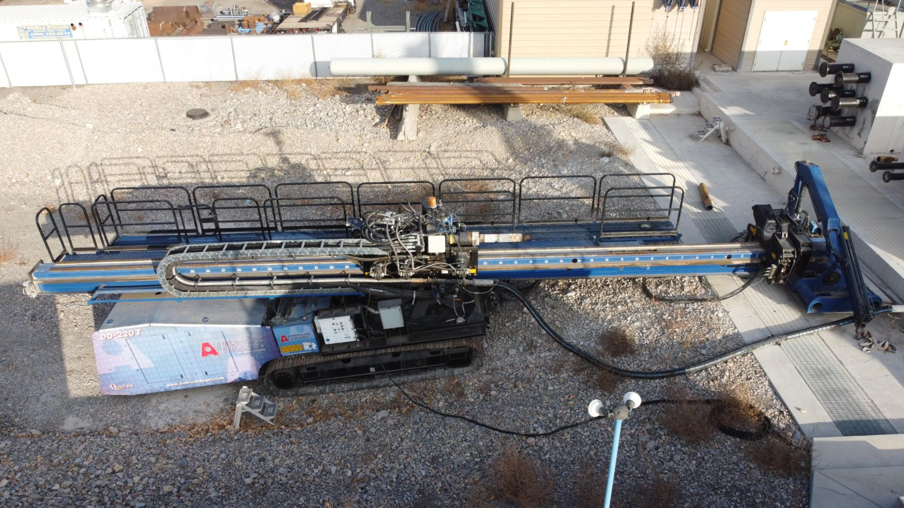 Horizontal Directional Drill and Portable Bentonite System