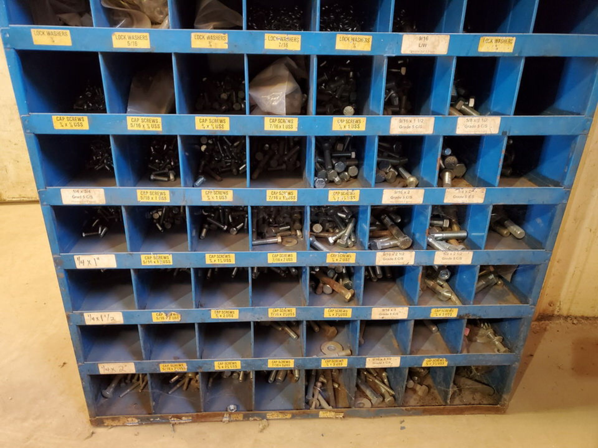 """(2) Parts Bins To Include But Not Limited To: Nuts, Bolts, Washers, etc. Size Range: 1/4""""-4"""" - Image 4 of 15"""