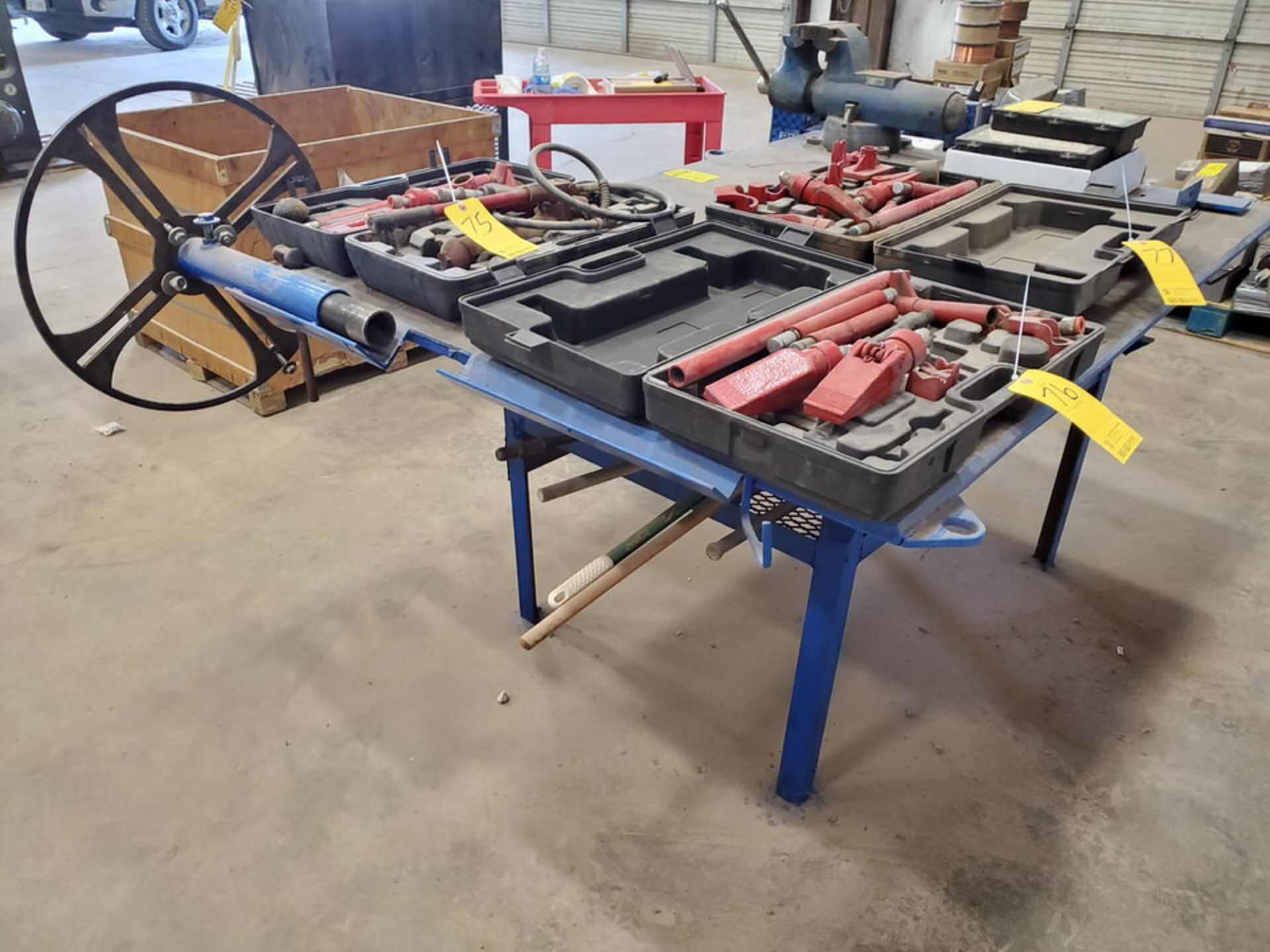 "Stl Welding Table W/ 6"" Vise 48"" x 70"" x 35""H (Material Excluded) - Image 4 of 8"
