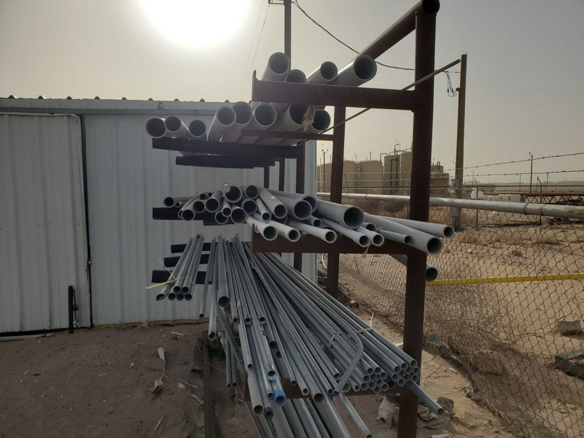"PVC & Alum. Pipe W/ Conduit Size Range: 1/2"" - 4"" W/ Rack - Image 4 of 18"