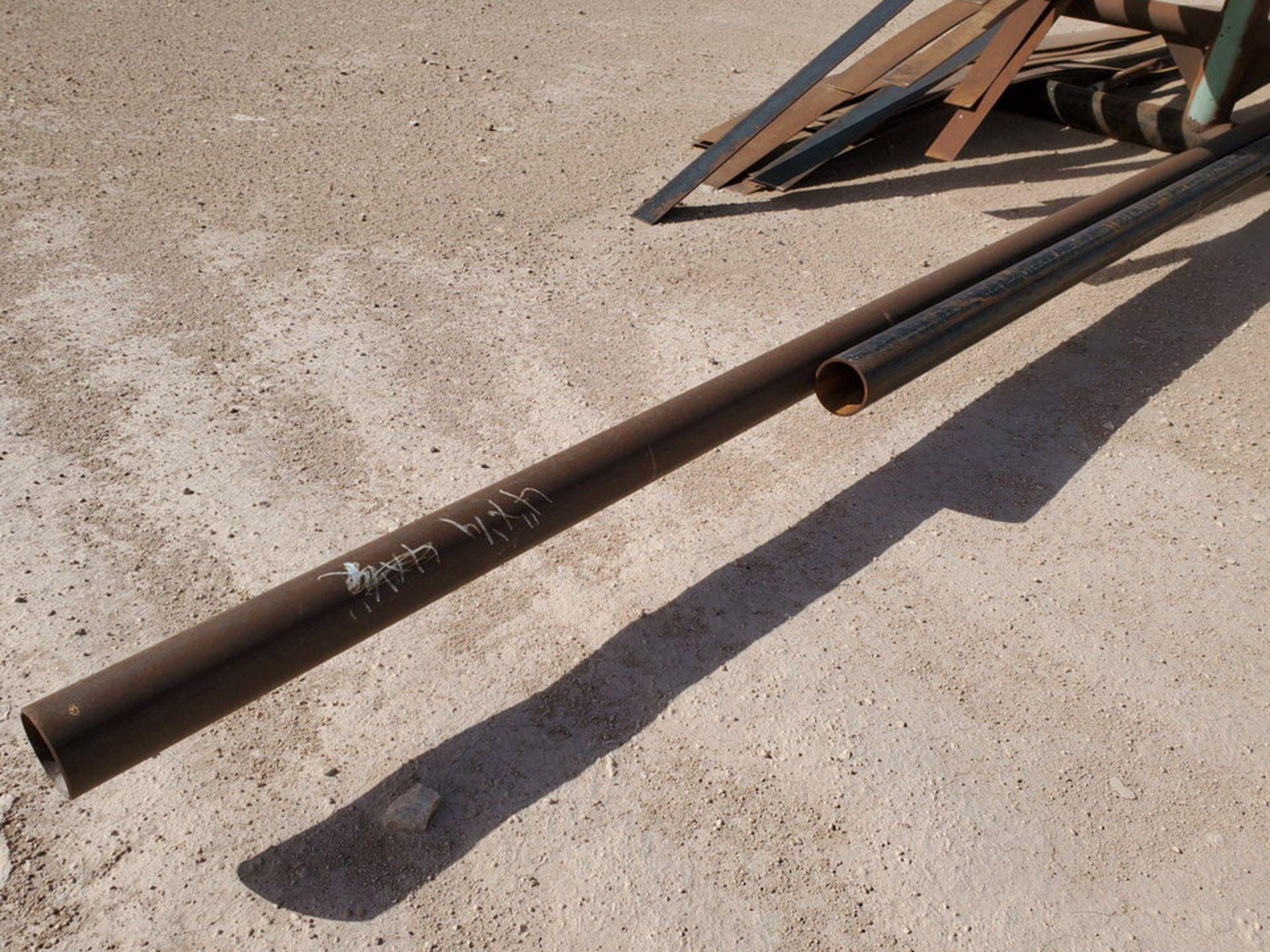"(25) Pipe & Flat Bar D: 3""-4"", L: 15'-42' - Image 3 of 10"