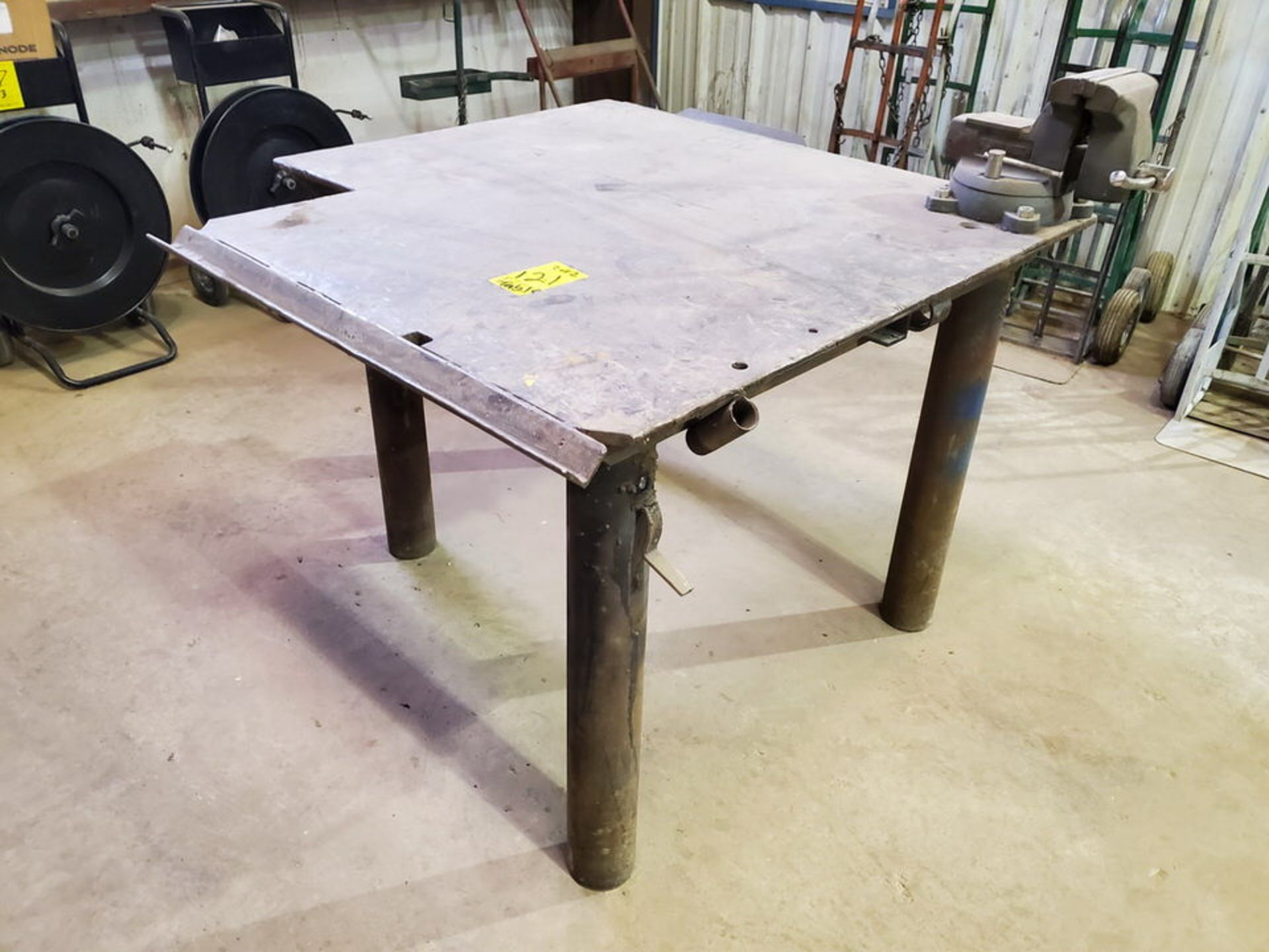 "(2) Stl Welding Tables (1) 49"" x 55"" x 36""H, W/ 6"" Vise; (1) 48"" x 72"" x 36""H (Matl. Excluded) - Image 2 of 8"