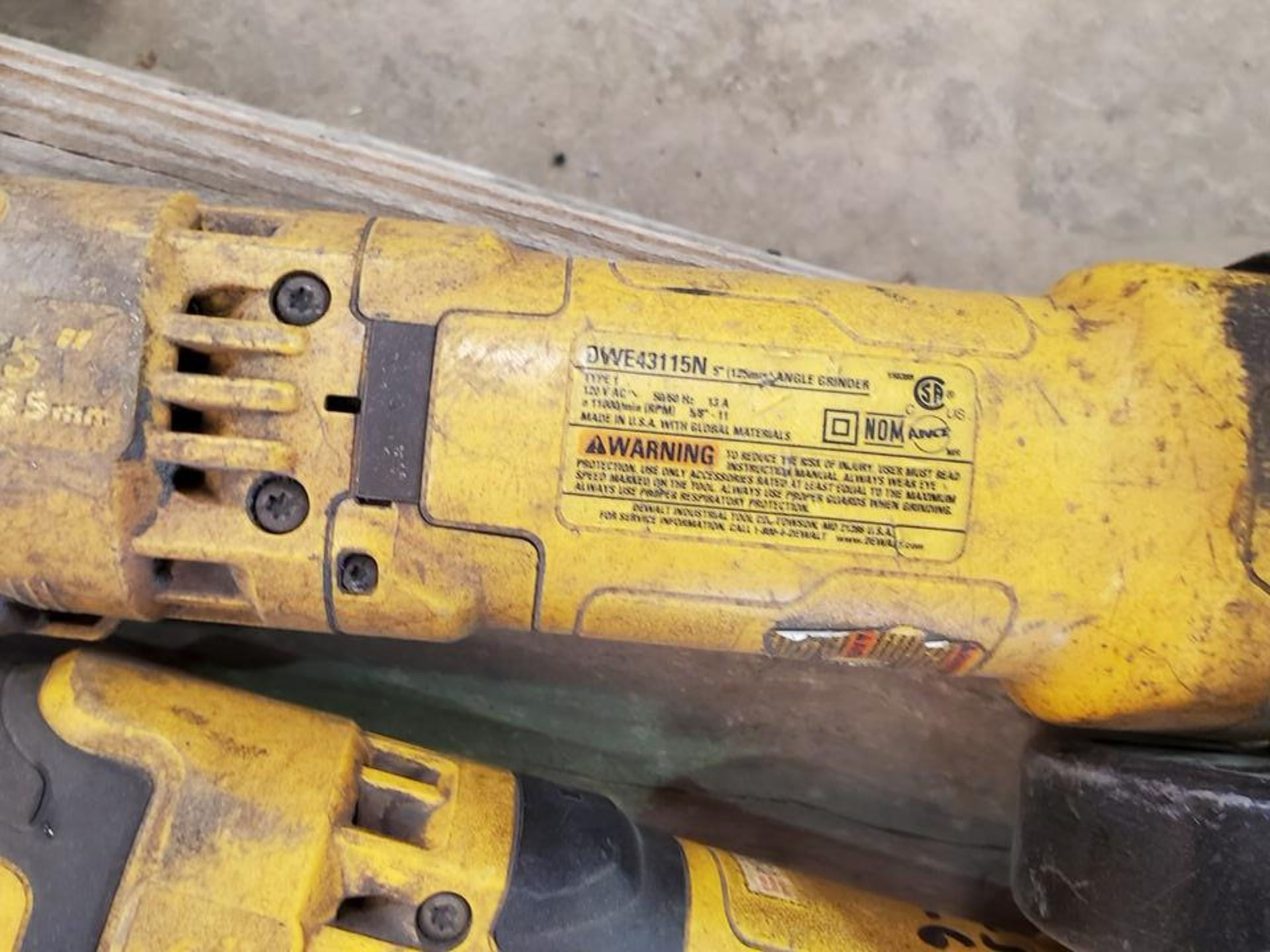 """Dewalt (4) 6"""" Angle Grinders 120V, 12A - Image 5 of 5"""