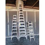 (5) Alum. Platform Ladders 8', 12', 10', (2) 6'